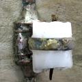 After burn out (yksityiskohta), 2008, yhdistelmätekniikka, 26x115cm