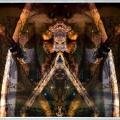 Call of Shaman, 2006, digitaalinen vedos/akryyli, 78x140cm