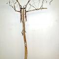 Haavoitettu enkeli, 2005, yhdistelmätekniikka, 130x90x20cm