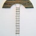 Lähtö, 2008, naru/puu, 195x130cm