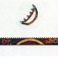 Lunatic's walk, 2000, sekatekniikka teräkselle, 130x65